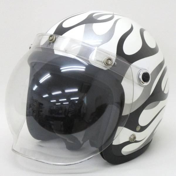 LEAD工業 BARTON ホワイト  ジェット ヘルメット